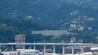 Vue dunouveau pont de Gênes, en Italie, le jour de son inauguration, le3 août 2020. (ANDREAS SOLARO / AFP)