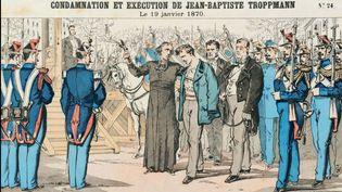 Dessin représentant la condamnation et l'exécution de Jean-Baptiste Troppmann, le 19 janvier 1870. (COLLECTION PRIVEE)