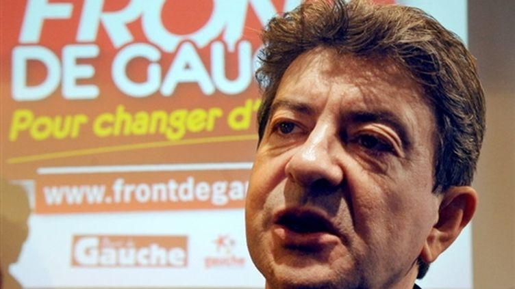 En cas de succès du FG aux régionales, Jean-Luc Mélenchon, pourrait viser leadership pour la présidentielle de 2012. (AFP - Boris Horvat)