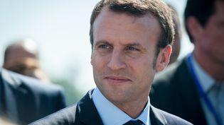 L'ancien ministre de l'Economie Emmanuel Macron arrive au sommet des réformistes européens à Lyon le 24 septembre 2016. (CITIZENSIDE/FRANCK CHAPOLARD / CITIZENSIDE)