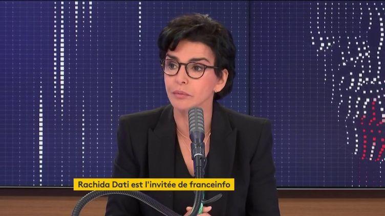 Rachida Dati, maire Les Républicains du 7e arrondissement de Paris, était l'invitée de franceinfo vendredi 17 juillet 2020. (FRANCEINFO / RADIO FRANCE)
