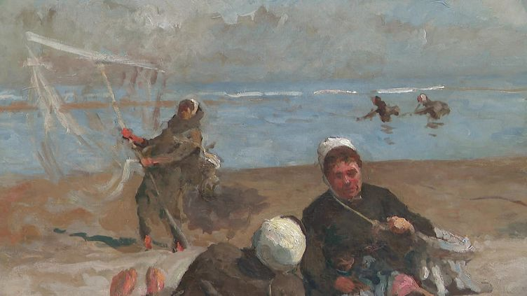 Le musée Opale-Sud de Berck rend hommage au peintre Eugène Trigoulet. (Capture d'écran France 3 / HAZARD Clothilde)
