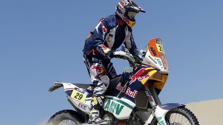 L'Américain Kurt Caselli sur sa KTM