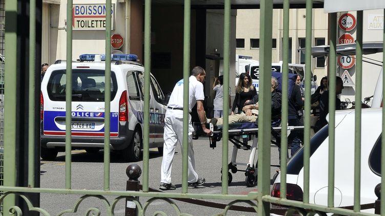 L'hôpital Saint Roch à Nice le 7 mai 2014 où a été transportée Hélène Pastor après la fusillade (BEBERT BRUNO / SIPA)
