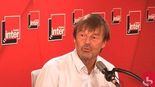 Nicolas Hulot, le 1er septembre 2020 sur France Inter. (FRANCEINTER / RADIOFRANCE)
