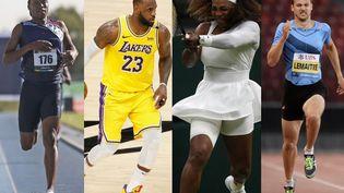 Caster Semenya, LeBron James, Serena Williams et Christophe Lemaitre ne disputeront pas les Jeux olympiques de Tokyo. (AFP)