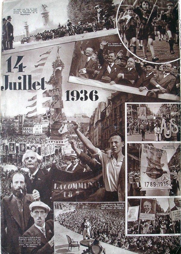 """Une du magazine """"Voilà"""", le 18 juillet 1936  (coll. MHV)"""