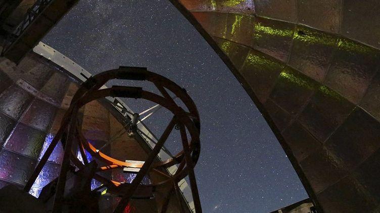 L'un des télescopes utilisés par la Nasa pour observer l'astéroïde 2001 FO32, photographié le 11 mars 2021 à Hawai (Etats-Unis). (NASA / AFP)