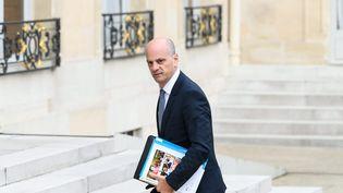 Jean-Michel Blanquer, le ministre de l'Education nationale, lors de la sortie du conseil des ministres le 30 août 2017. (MAXPPP)