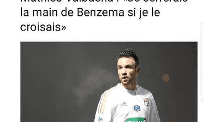 La réponse de Karim Benzema à Mathieu Valbuena. (Compte Instagram de Karim Benzema)