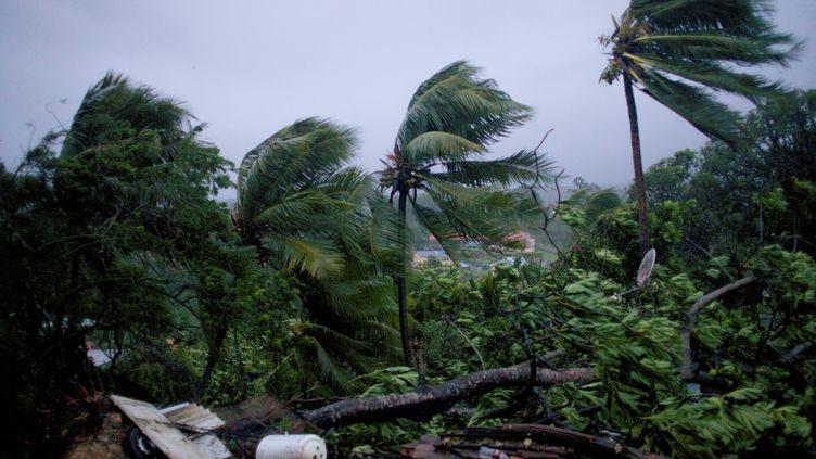 L'ouragan Maria, le 19 septembre 2017, à Petit-Bourg en Guadeloupe. (CEDRIK-ISHAM CALVADOS / AFP)