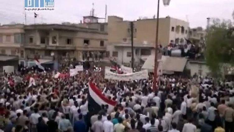 La répression aurait fait au moins un millier de morts depuis déclenchement des manifestations à la mi-mars. (YouTube / AFP)