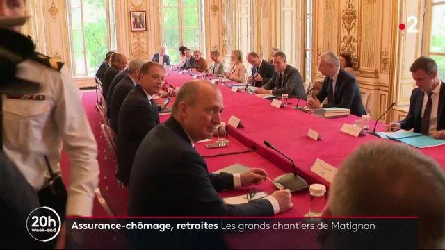 Assurance-chômage, retraites : les grands chantiers de Matignon