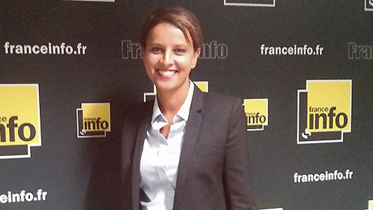 (Najat Vallaud-Belkacem a choisi France Info pour donner sa première interview à France Info  Radio France/ Cécile Mimault)