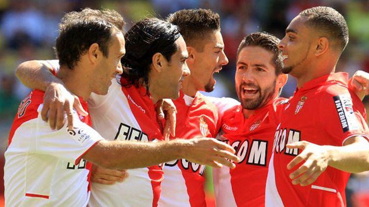 La joie des joueurs de l'AS Monaco
