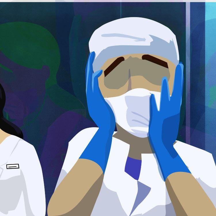 Des soignants racontent à franceinfo leurs souffrances après avoir dû faire face à l'épidémie de coronavirus. (PIERRE-ALBERT JOSSERAND / FRANCEINFO)