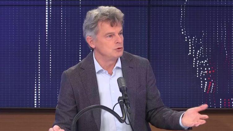 Fabien Roussel, secrétaire national du Parti communiste, était l'invité de franceinfo vendredi 18 décembre 2020. (FRANCEINFO / RADIO FRANCE)