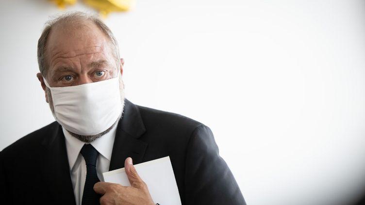 Le ministre de la Justice Eric Dupond-Moretti, le 17 juillet 2020 au tribunal de grande instance de Paris. (HAMILTON / AFP)