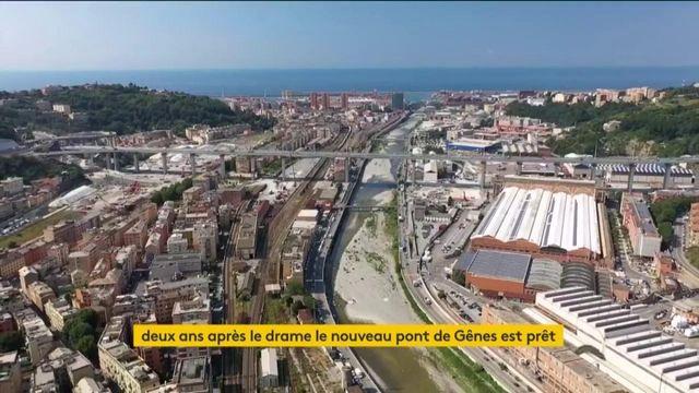 Italie : deux ans après la tragédie, le nouveau pont de Gênes va voir le jour