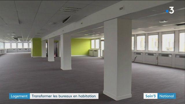 Immobilier : une loi pour transformer davantage de bureaux en logements