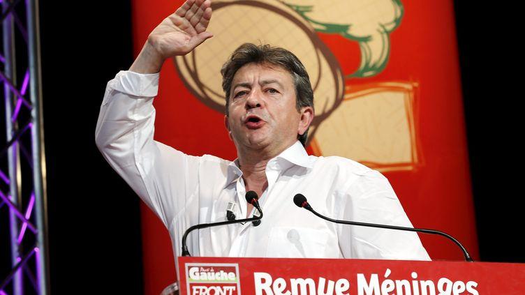 Jean-Luc Mélenchon, le 23 août 2013 àSaint Martin d'Hères (Isère). ( / MAXPPP)