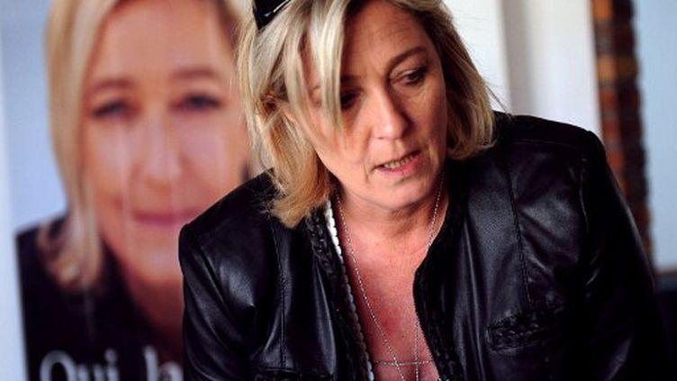 """Marine Le Pen se voit en """"chef de l'opposition au système"""". (FRANCOIS LO PRESTI / AFP)"""