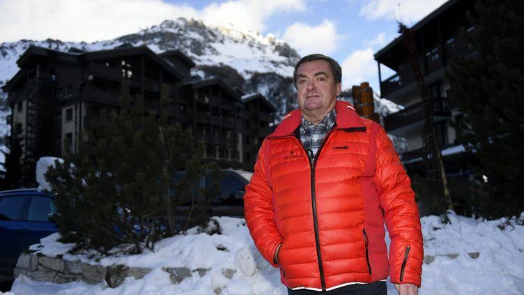 Marc Bauer, le maire de Val-d'Isère, le 26 janvier 2017 à Val-d'Isère. (ALEXANDRE MARCHI / MAXPPP)