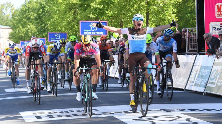 Le Français Clément Venturini (AG2R) conserve son titre de champion de France (STÉPHANE MORTAGNE / MAXPPP)