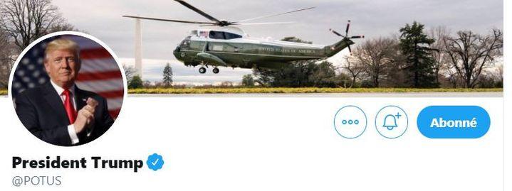 Capture d'écran du compte Twitter de Donald Trump, président des Etats-Unis. (TWITTER / POTUS)