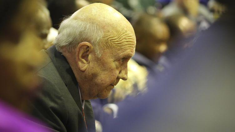 Frédéric de Klerklors dudiscoursdu président Cyril Ramaphosa au Parlement sud-africain au Cap, le 13 février 2020. (SUMAYA HISHAM/AP/SIPA / SIPA)