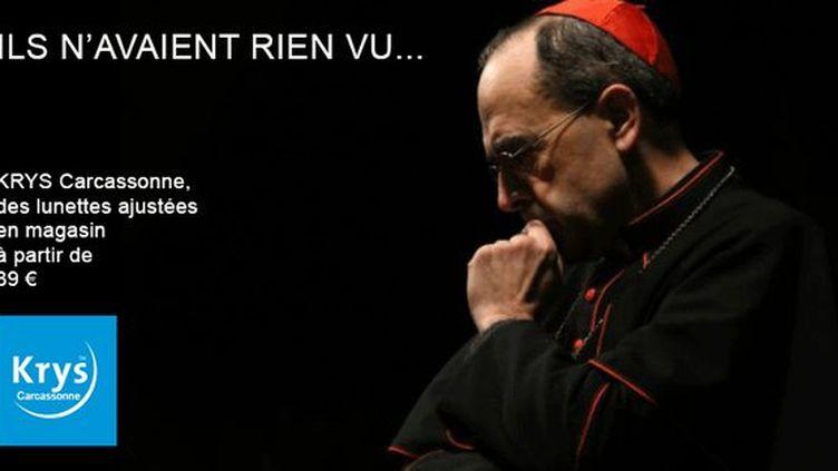 Krys Carcassonne a réalisé un montage mettant en scène le cardinal Barbarin pour une campagne publicitaire. (DR)