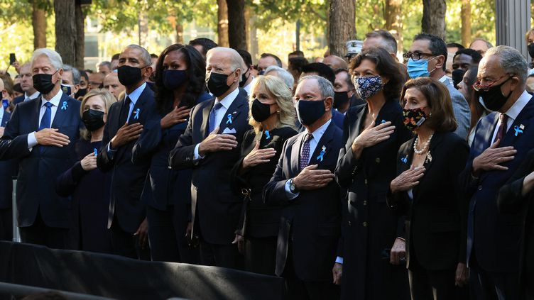 Le président américain Joe Biden assiste aux commémorations des attentats du 11-Septembre, 20 ans plus tard à New York. (CHIP SOMODEVILLA / GETTY IMAGES NORTH AMERICA / AFP)