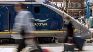 Un Eurostar en gare de Lille (Nord), le 13 juin 2014. (PHILIPPE HUGUEN / AFP)