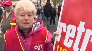 manifestante CGT (France 3)