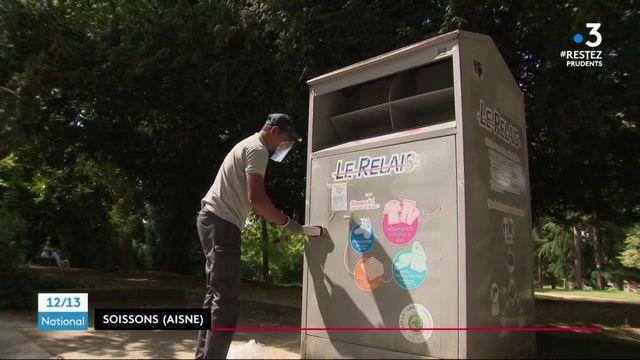 Aisne : l'association Le Relais, spécialisée dans la collecte de vieux vêtements, a repris son activité