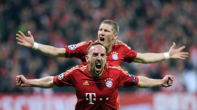 La joie du buteur Franck Ribéry