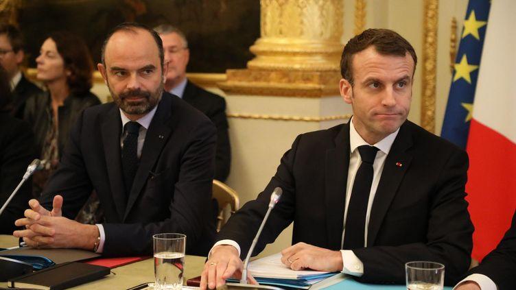 Edouard Philippe et Emmanuel Macron à l'Elysée le 10 décembre 2018. (LP/ JEAN-BAPTISTE QUENTIN / MAXPPP)