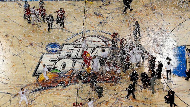 Louisville célèbre son troisième titre universitaire à Atlanta (KEVIN C. COX REMOTE / GETTY IMAGES NORTH AMERICA)