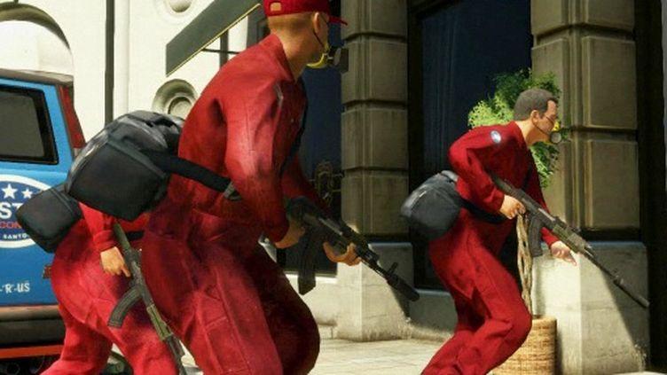 Capture d'écran du trailer officiel du cinquième volet du jeu vidéo Grand Theft Auto, mis en ligne mercredi 2 novembre. (Capture d'écran / DR)