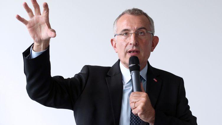 Le président de la SNCF, Guillaume Pepy, le 8 octobre 2013, à La Plaine Saint-Denis (Seine-Saint-Denis). (PATRICK KOVARIK / AFP)