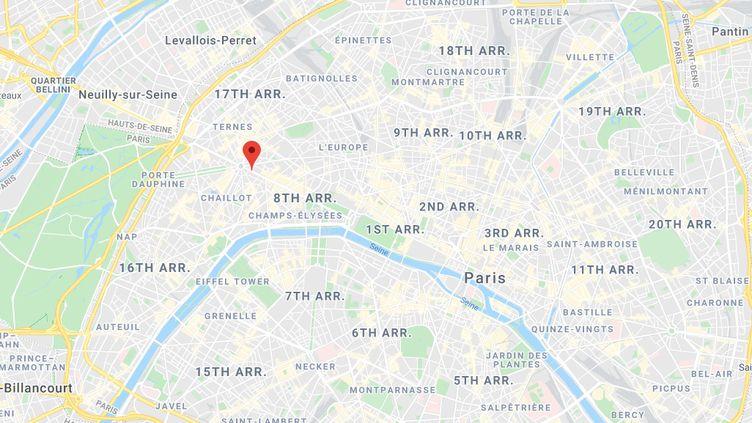 Avenue des Champs-Elysées, à Paris. (GOOGLE MAPS)