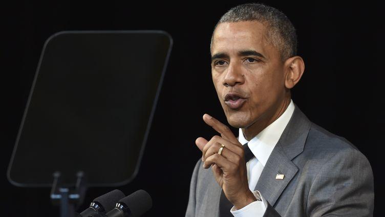 Barack Obama lors de son discours auGrand théâtrede la Havane le 22 mars 2016 (YURI CORTEZ / AFP)