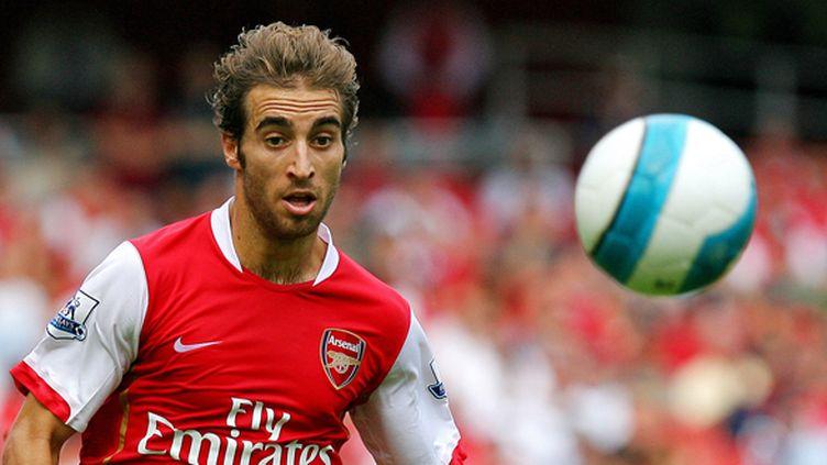 Mathieu Flamini sous le maillot d'Arsenal.  (CARL DE SOUZA / AFP)