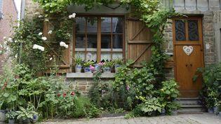En Belgique, les façades fleuries font partie des corridors écologiques. (ISABELLE MORAND / RADIO FRANCE / FRANCE INFO)