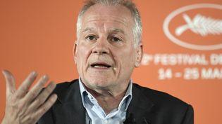 Le délégué général du Festival de Cannes Thierry Frémaux, le 18 avril 2019. (BERTRAND GUAY / AFP)