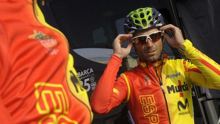 Alejandro Valverde est l'un des favoris du Championnat du Monde 2014 (Ponferrada) (MIGUEL RIOPA / AFP)