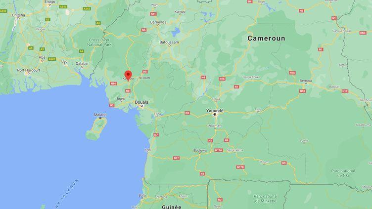 Au moins huit enfants ont été tués dans l'attaque d'une école à Kumba, dans la région anglophone du Nord-Ouest du Cameroun, le 24 octobre 2020. (GOOGLE MAPS)