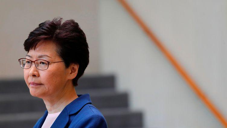 La cheffe de l'exécutif hongkongais, Carrie Lam, à Hong Kong (Chine), le 9 juillet 2019. (TYRONE SIU / REUTERS)