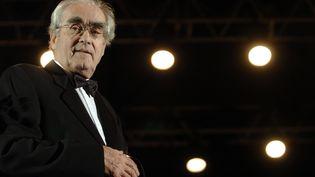 Le compositeur Michel Legrand lors du Festival international musique et cinéma de l'Yonne, à Auxerre, le 23 octobre 2014. (MARTIN BUREAU / AFP)