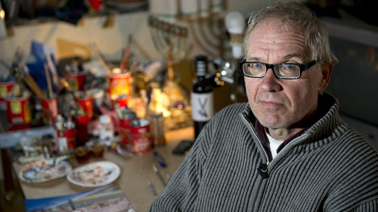 L'artiste suédoisLars Vilks le 3 janvier 2012 àNyhamnslage, en Suède (BJORN LINDGREN / TT NEWS AGENCY / AFP)